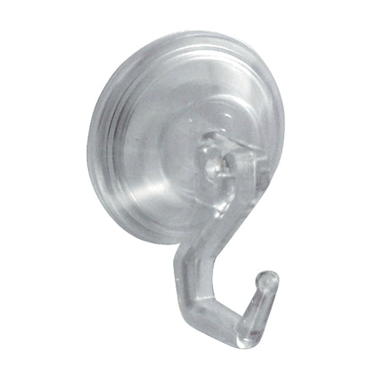 InterDesign 16600 Power Lock Suction Hook, Clear, Set Of 2