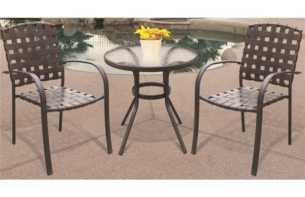 "Seasonal Trends T6C27AO1BK Bistro Table, 27"", Round, Glass"