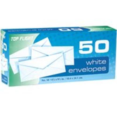 Top Flight 1849 Plain Envelopes, White