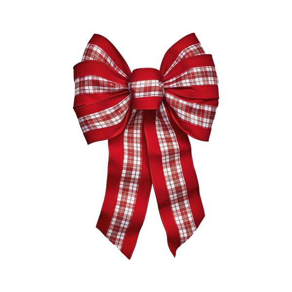 Holiday Trims 6143 Christmas Bow, Red, 14""