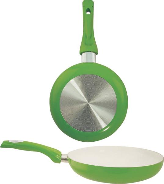 "Dura-Kleen 8120-GR Ceramic Coated Aluminum Fry Pan, 8"", Green"