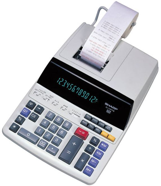 Sharp EL1197PIII Printing Calculator With Two Color Print