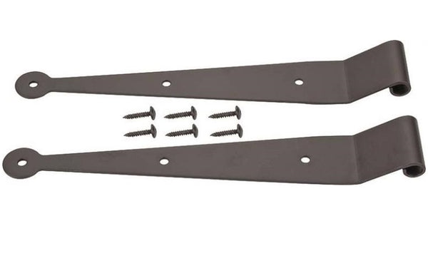 "Prosource SH-S02-PS Shutter Strap Hinges, 1-1/2"", Black Powder Coated, 2/Pack"