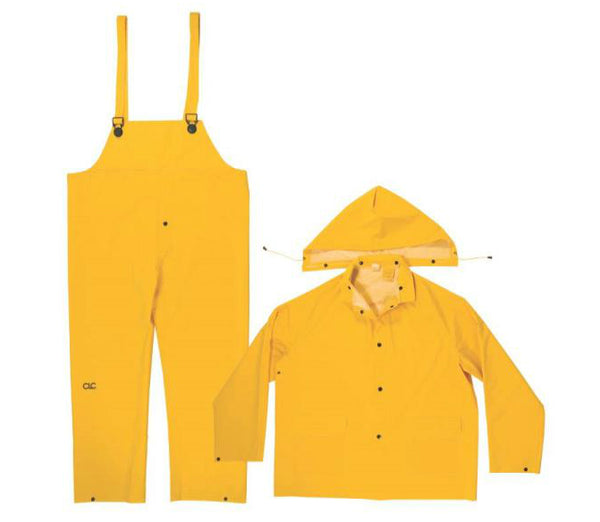CLC R101M 3-Piece Rain Suit, Yellow, Medium