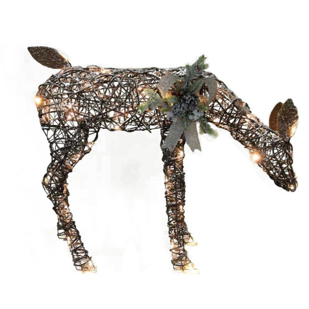 Santas Forest 62401 Lighted Moose Christmas Decoration