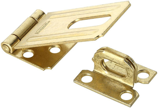 National Hardware N102-293 Steel Safety Hasp, Brass, 3-1/4""