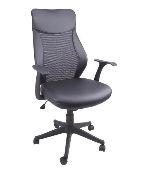 Homebasix FY-1352-9 Office Chair, 250 Lb Load, Black