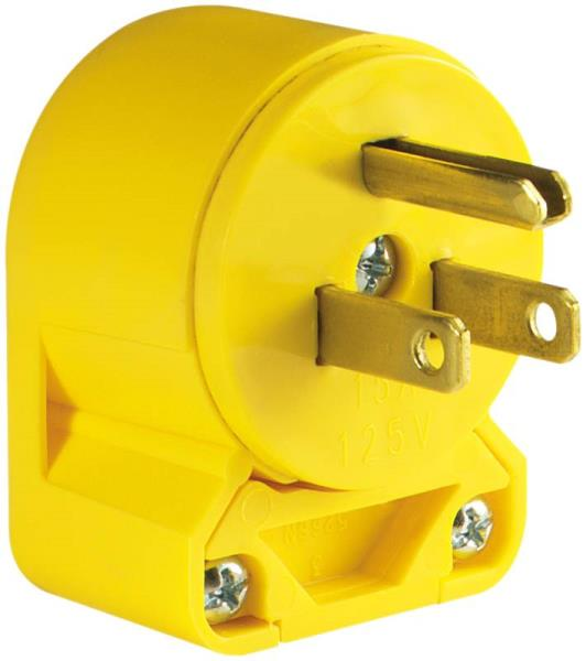 Cooper Wiring 4867AN-BOX 3-Wire Heavy Duty Grade Vinyl Plug, Yellow