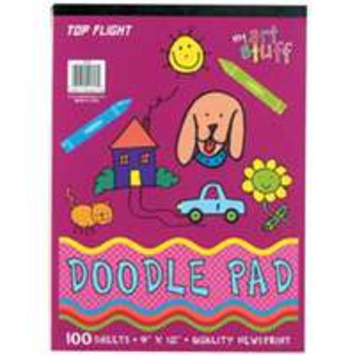 Top Flight 4650215 Doodle Pad White Paper, 30 lbs