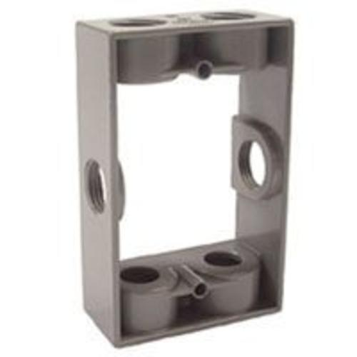 "Raco 5400-5 Single Gang Extension Box, 5-1/4"" x 3-1/2"" x 1-1/2"", Gray"