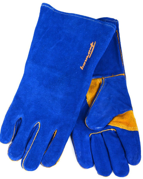 Forney 53423 Blue Leather Heavy Duty Men's Welding Gloves, X-Large
