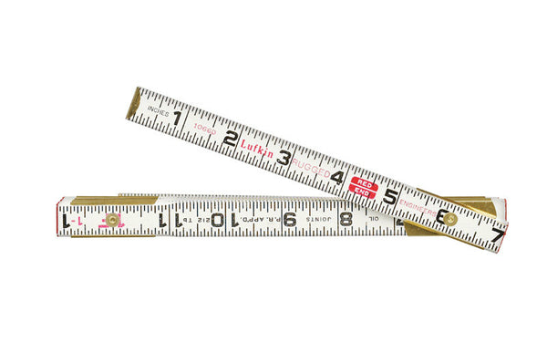 "Lufkin 1066DN Engineers Folding Rule with Outside Marking, Wood, 5/8"" W x 6' L"