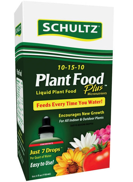 Schultz SPF45160 Liquid Plant Food Plus, 4 Oz
