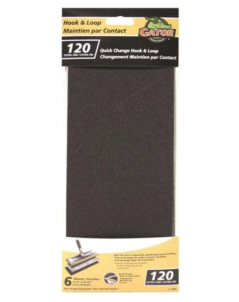 Gator  8690-10 Hook and Loop Drywall Refill Sheet, 120 Grit
