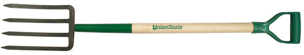 "Union Tools 72105 Garden Spading Fork, 4 Tines, 30"" Handle"