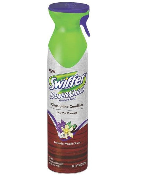 Swiffer 81618 Dust & Shine Furniture Spray, 9.7 Oz, Lavender
