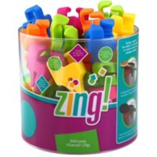 Zing 93024 Silicone Utensil Clip, Assorted colors
