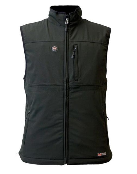 Mobile Warming MWJ13M01-LG-BLK Men Vinson Heated Vest, Large, Black