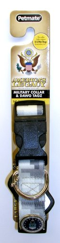 "Aspen Pet 0320085 America's Legacy Dog Collar, 1""x16""-26"", Gray"