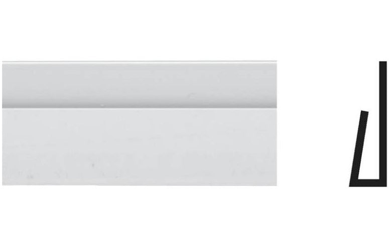 Royal 5072871 Frp Cap Panel Moulding, White, 8' L