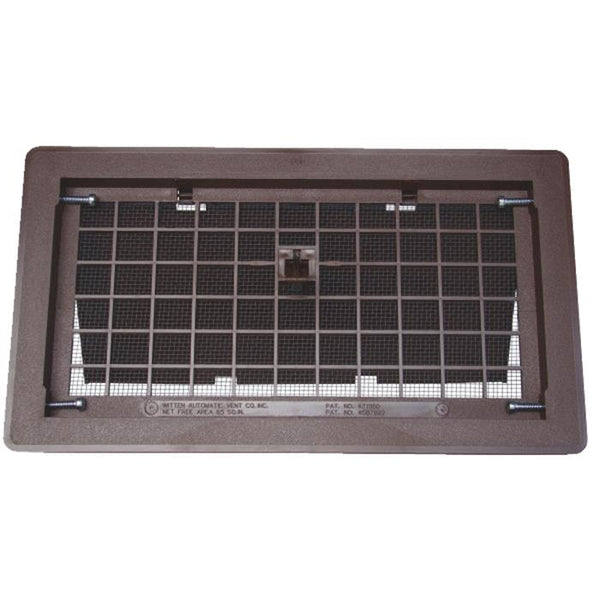 Witten Automatic Vent  500BR Manual Foundation Vent With Damper, Brown