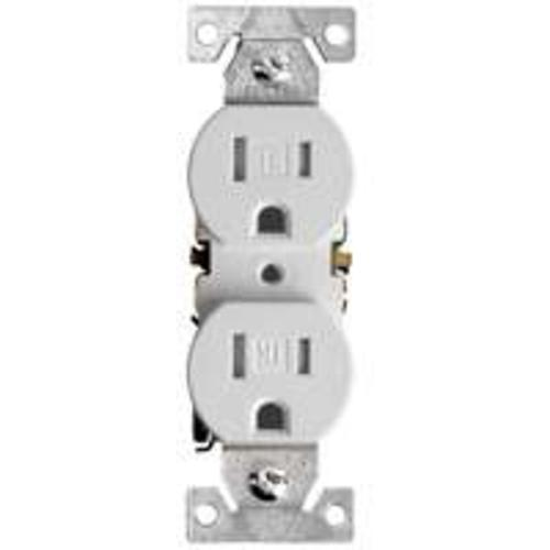 Cooper Wiring TR270W-BOX Tamper Resistant Duplex Receptacle, White