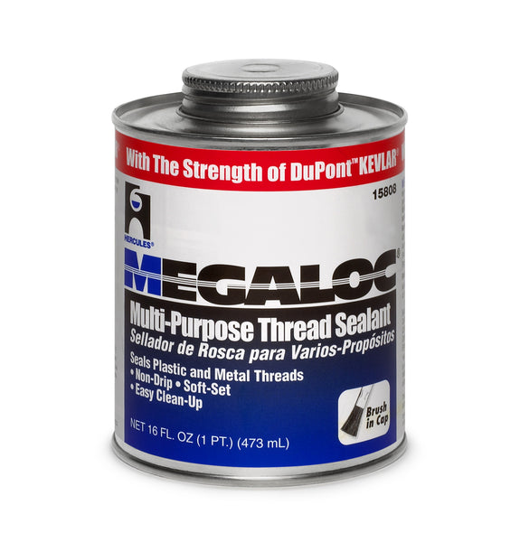 Hercules 15808 Megaloc Multi-Purpose Thread Sealant, 1 Pt, Blue