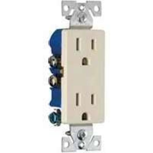 Cooper Wiring 1107-9A Decorator Duplex Receptacles, 15 Amp, Almond