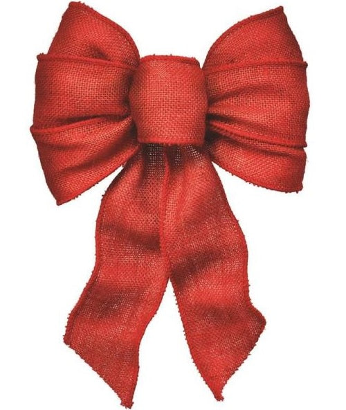 Holiday Trim 6122 Burlap Christmas Bow, 7 Loop, Assorted Colors
