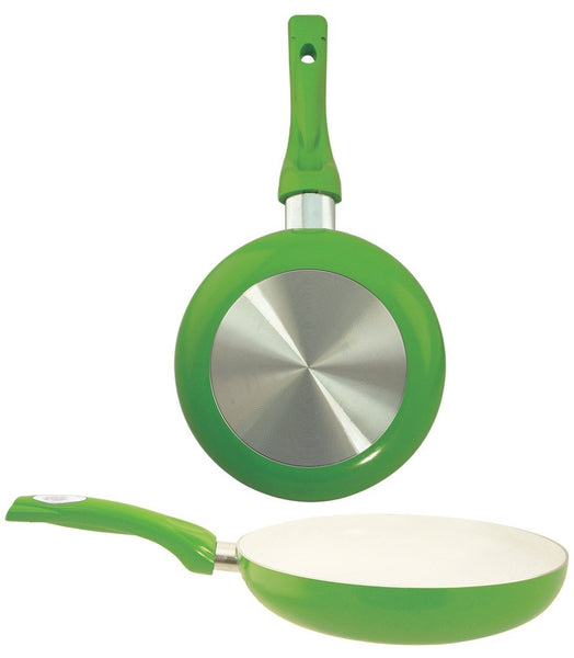 "Euro-Ware 8124-GR Ceramic Coated Fry Pan, 9.5"", Green"