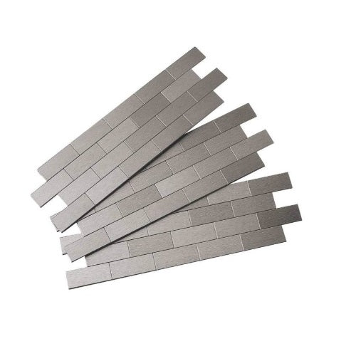 Acpect F95-50 Subway Matted Wall Tiles, Brushed Stainless