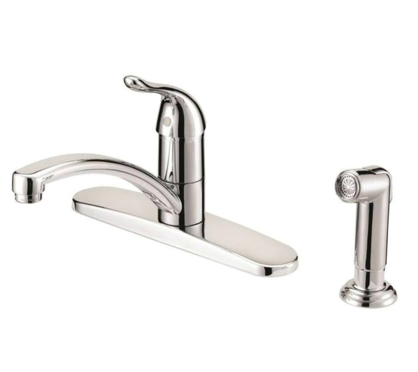 Mintcraft 67534-1001 Kitchen Faucet, 1 Handle, Chrome, 8""