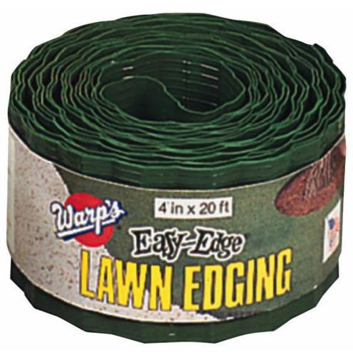 "Warp's Easy Edge LE420G Lawn Covering Grass Stop, 4"" x 20', Green"