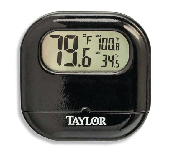 Taylor 1700 Digital Thermometer with Reversible Suction Cup, Black