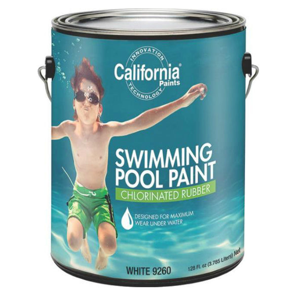 California Paint 9260 Swimming Pool Paint, 1 Gallon, White