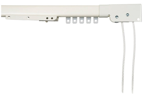 "Kenney KN31/1P Traverse Curtain Rod, White, 50"" L"