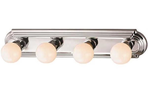 Boston Harbor 046044-CHROME Bathroom Lightbar, Polished Chrome