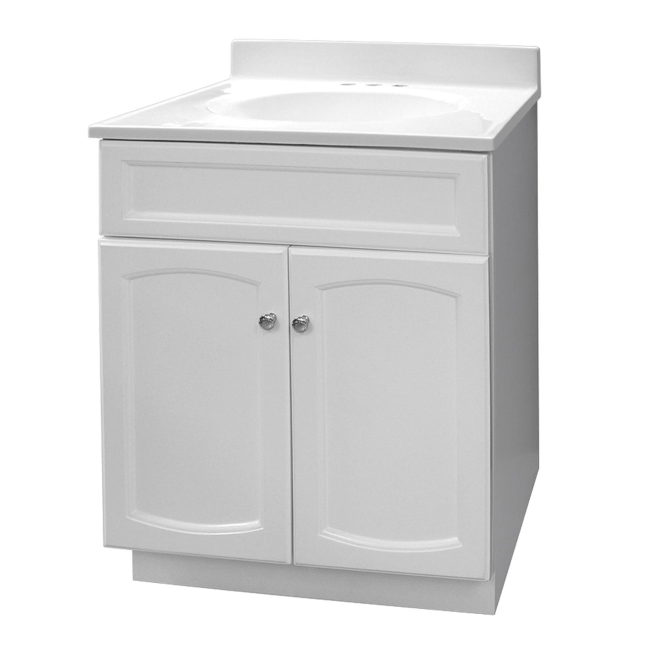 Foremost HEW2418 Heartland Vanity With Cultured Marble Vanity Top, White