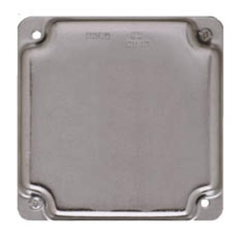 "Raco 804C Square Box Cover, 4"", 6.5 Cu. In."