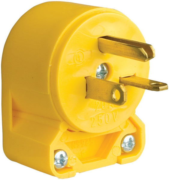 Cooper Wiring 4509AN-BOX Commercial Grade Vinyl Angled Plug, Yellow