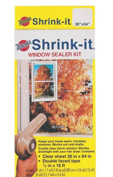 "Warp's Brothers SK-38 Shrink Window Insulates Kit, 18', 38"" x 64"""