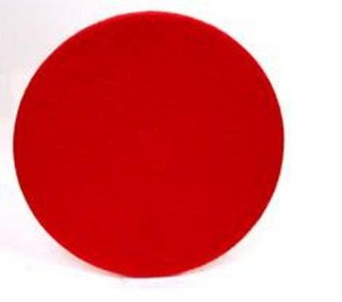 "North American paper 424514 Floor Machine Pad, 13"", Red"