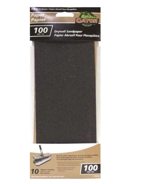 "Gator 7106-012 Drywall Sheet, Grit 100, 11-1/4"" x 4-1/4"""