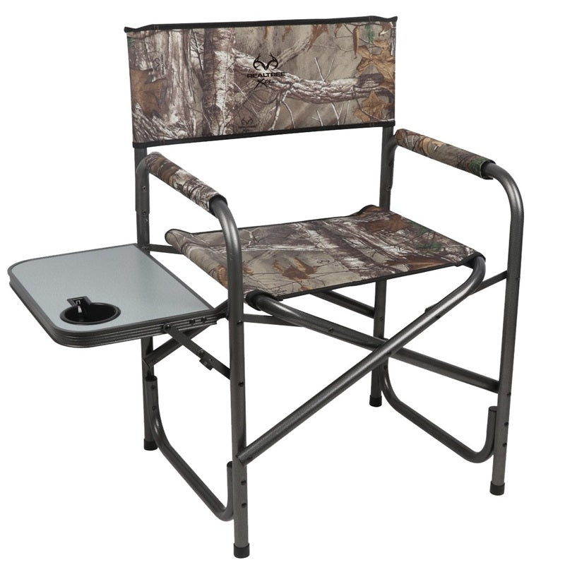 Realtree Prwf Dch002 Rt Portable Camping Director Chair With Side Tabl Toolboxsupply Com
