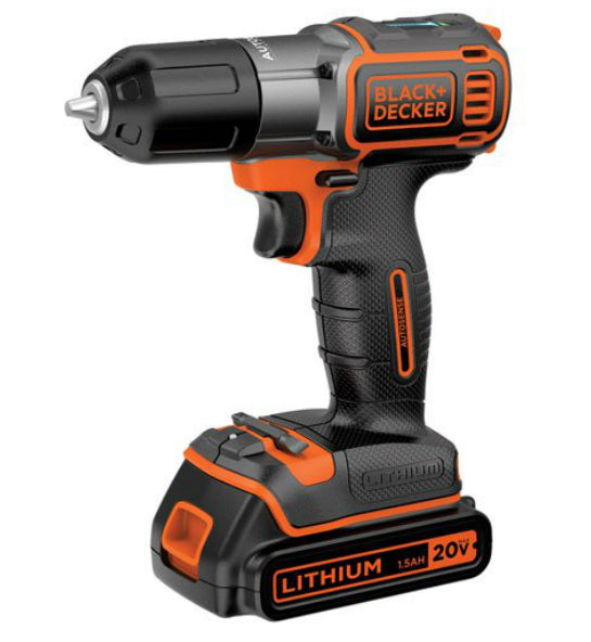 Black & Decker BDCDE120C 20V Max Lithium Drill/Driver with Autosense Technology
