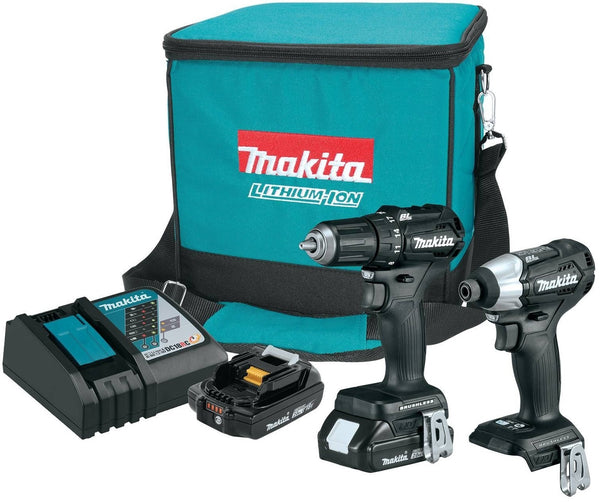 Makita CX200RB LXT Sub-Compact Drill Driver & Impact Driver Combo Kit, 18 Volts