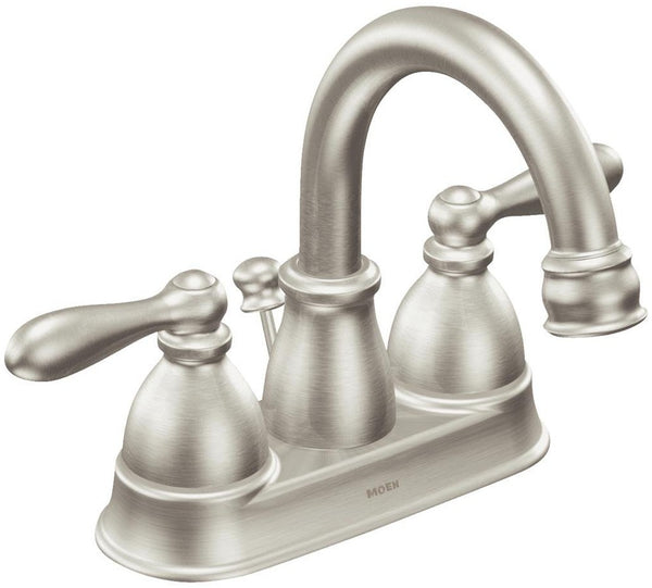 Moen WS84667SRN Caldwell Two-Handle High-Arc Bathroom Faucet, 1.2 GPM