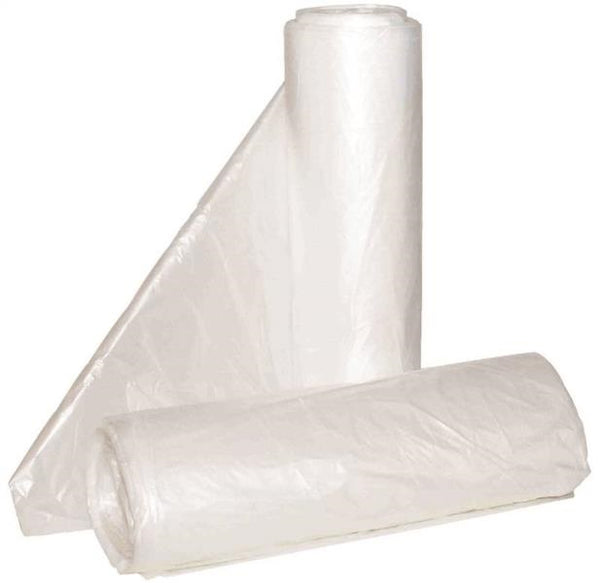 "Aluf Plastics HCR-303713C High Density HDPE Can Liner, Clear, 30""x37"", 20-30 Gal"