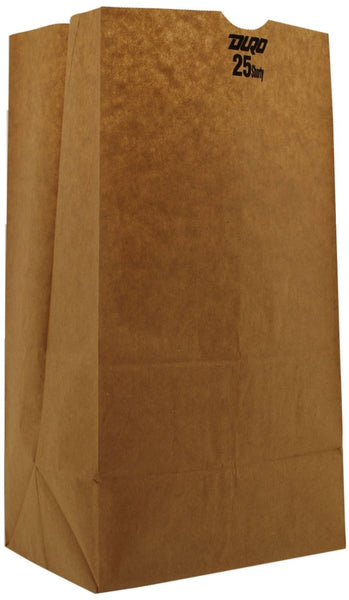 Duro 18428 Grocery Bag, Kraft Paper, Brown
