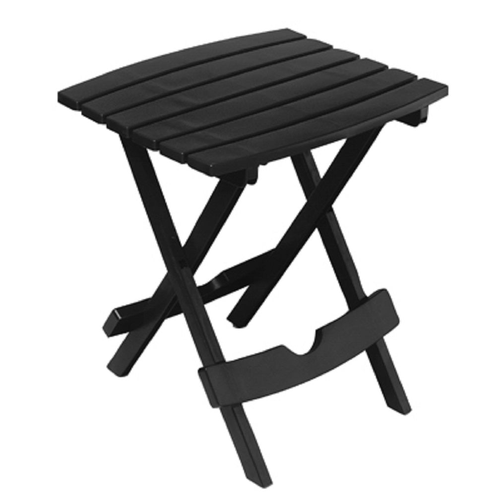Adams 8510-02-3734 Quick Fold Portable Resin Side Table, Black
